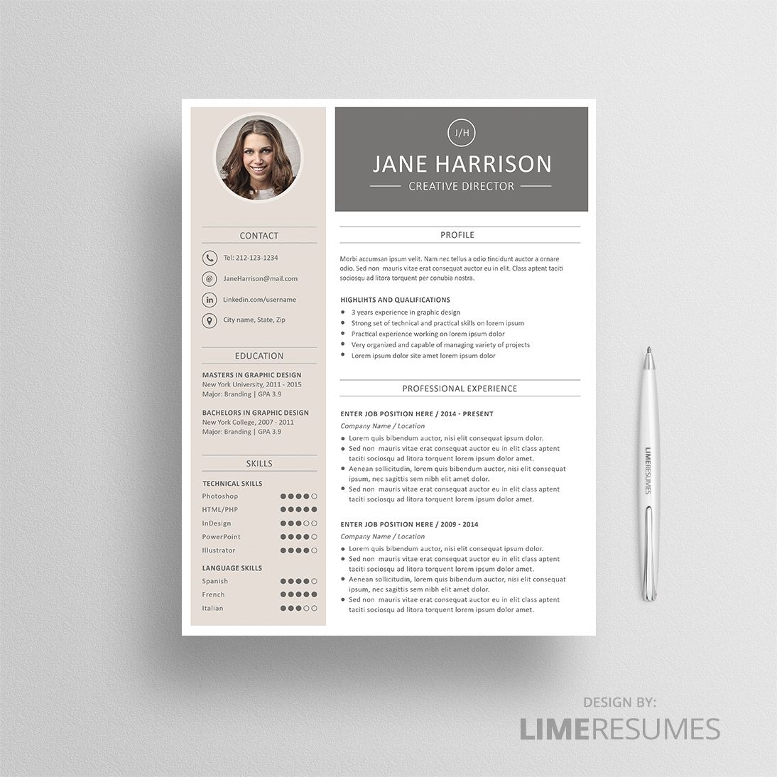 Resume Template 02 Resume cover letter template, Resume