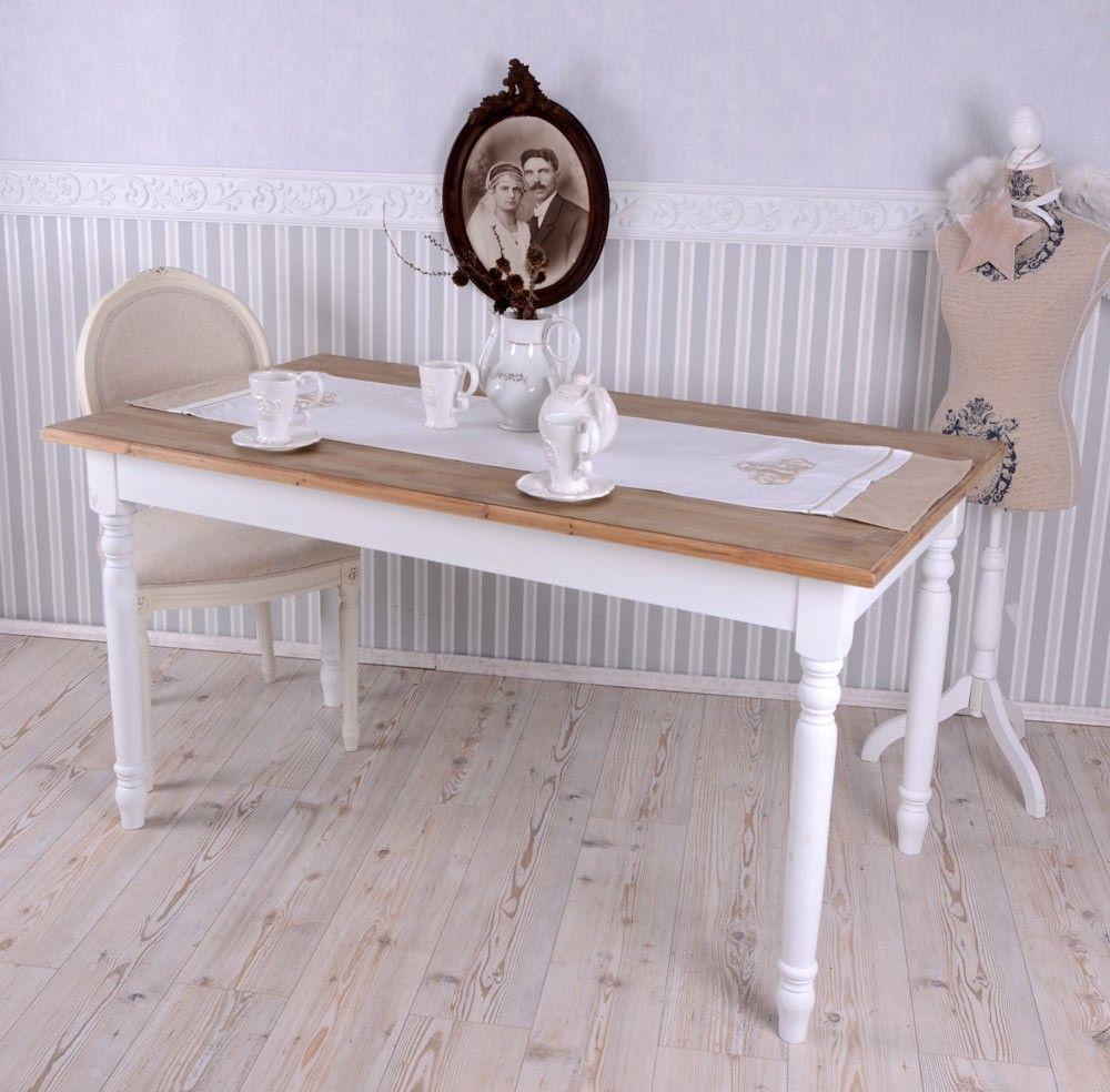 Large Dining Table Wood Villa Rustica — Glopal UK