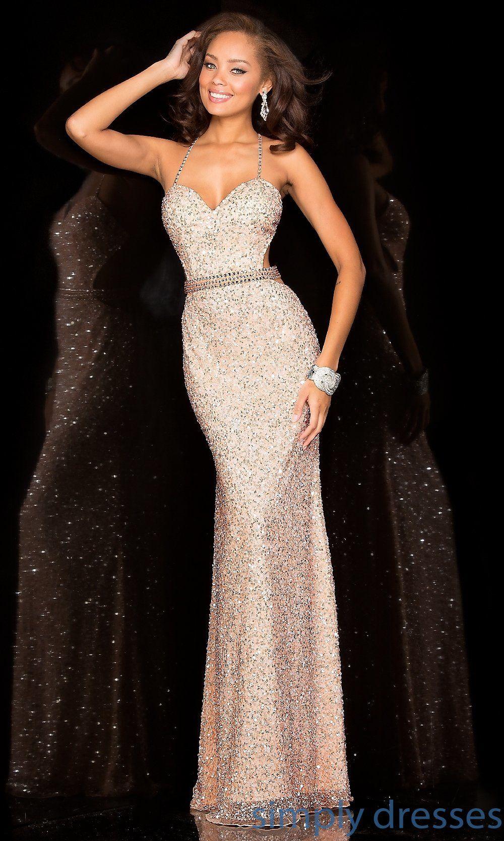 Scala 48389 Long Sequin Open Back Dress By Scala Dress Formal