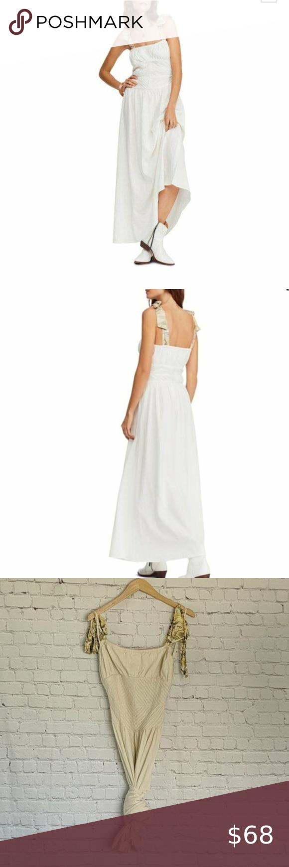 Free People Ecru Santorini Maxi Dress 4 Description Ruched And Shirred This Tie Strap Dress Has A Midi Length Wit Free People Maxi Dress Maxi Dress Dresses [ 1740 x 580 Pixel ]