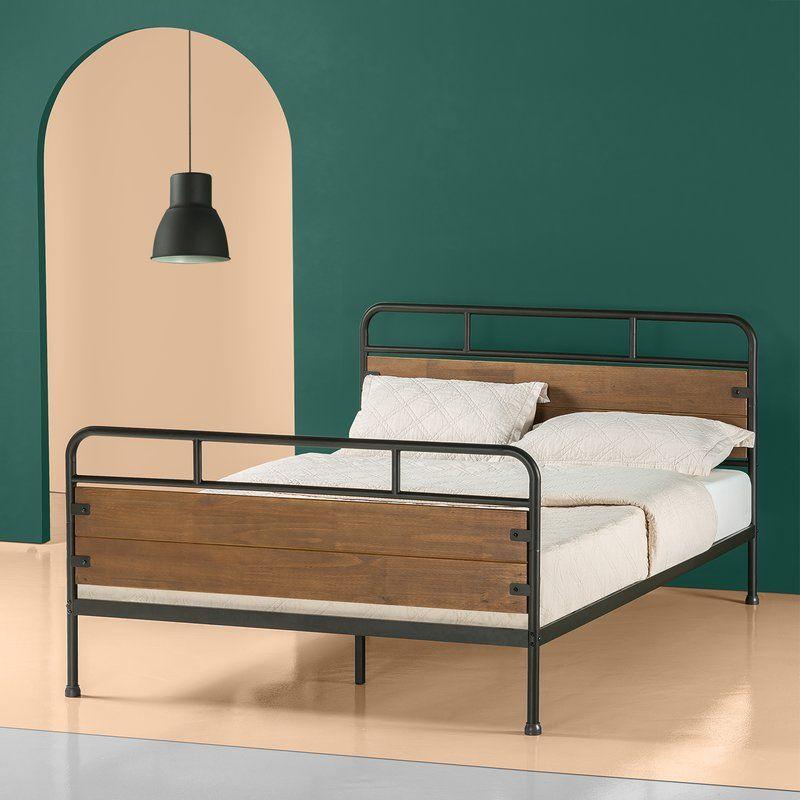 Gracie Oaks Vosburgh Bed Frame Reviews Wayfair Contemporary Platform Bed Wood Platform Bed Frame Platform Bed Frame