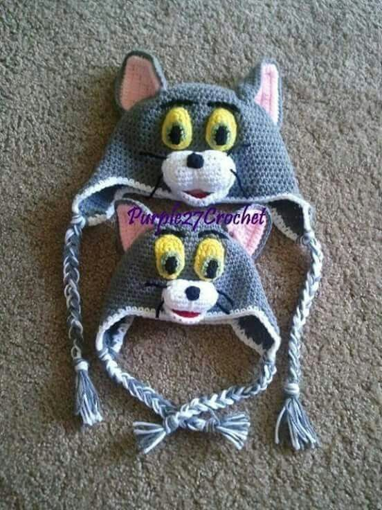 Gatito Tom | Crochet | Pinterest | Gato, Gorros y Tejido