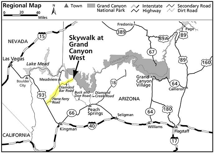 The Hualapai Tribe and Skywalk - Grand Canyon National Park ... on everglades in us map, new england in us map, miami in us map, phoenix in us map, austin in us map, orlando in us map, statue of liberty in us map, snake river in us map, canadian river in us map, milwaukee in us map, south dakota in us map, oklahoma city in us map, great salt lake in us map, guam in us map, painted desert in us map, sierra nevada mountains in us map, south carolina in us map, new york in us map, rio grande in us map, sonoran desert in us map,