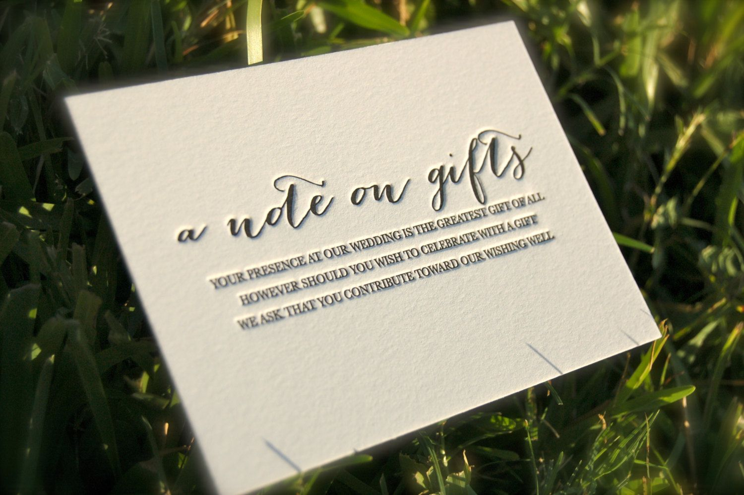 Wedding Invitation Wording Ideas With Poems: Letterpress Wedding Invitations, Blind Emboss Invitations