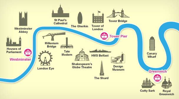 「thames river cruise route」的圖片搜尋結果
