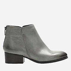 90ef66315ec Elvina Dawn Taupe Leather - Women s Booties   Ankle Boots - Clarks® Shoes  Official Site