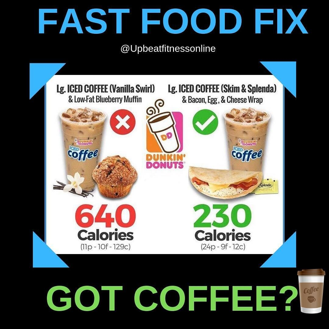 Dunkin donuts fast food fix ___________________ if you are