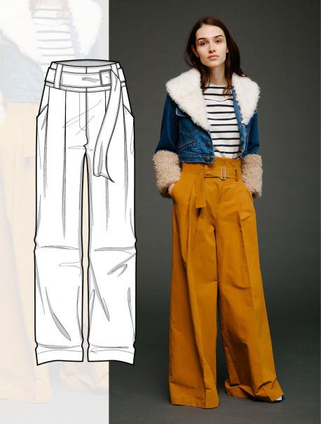 bcc7744fba Discover the new FW 2018-19 TROUSERS and SKIRTS development designs by  5forecaStore Fashion trend forecasting.