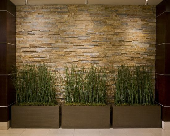Indoor Bamboo Horsetail Green Decor Bamboo In Planters Design, Pictures,  Remodel, Decor And Ideas   Page 3 Rock Wall Water Wall Waterfall
