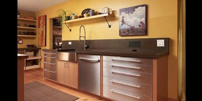 Make A Kitchen Using Tool Cabinets Generally The Cabinet Is Made Of Stainless Steel Stainles Kitchen Design Outdoor Kitchen Appliances Yellow Kitchen Designs