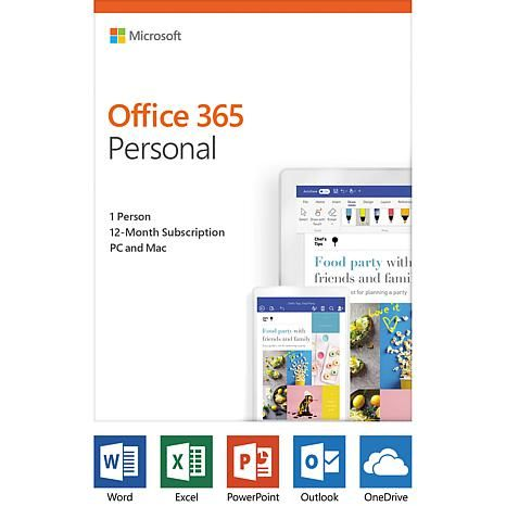 Microsoft Office 365 Personal 1Year Subscription for PC