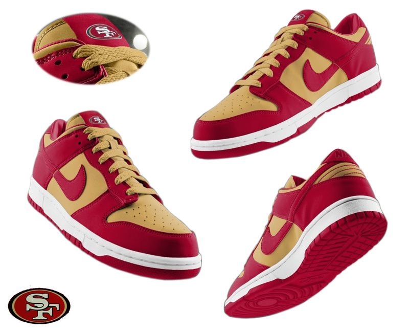 Mens Nike San Francisco 49ers Dunk Shoes team color ID:965610539 65