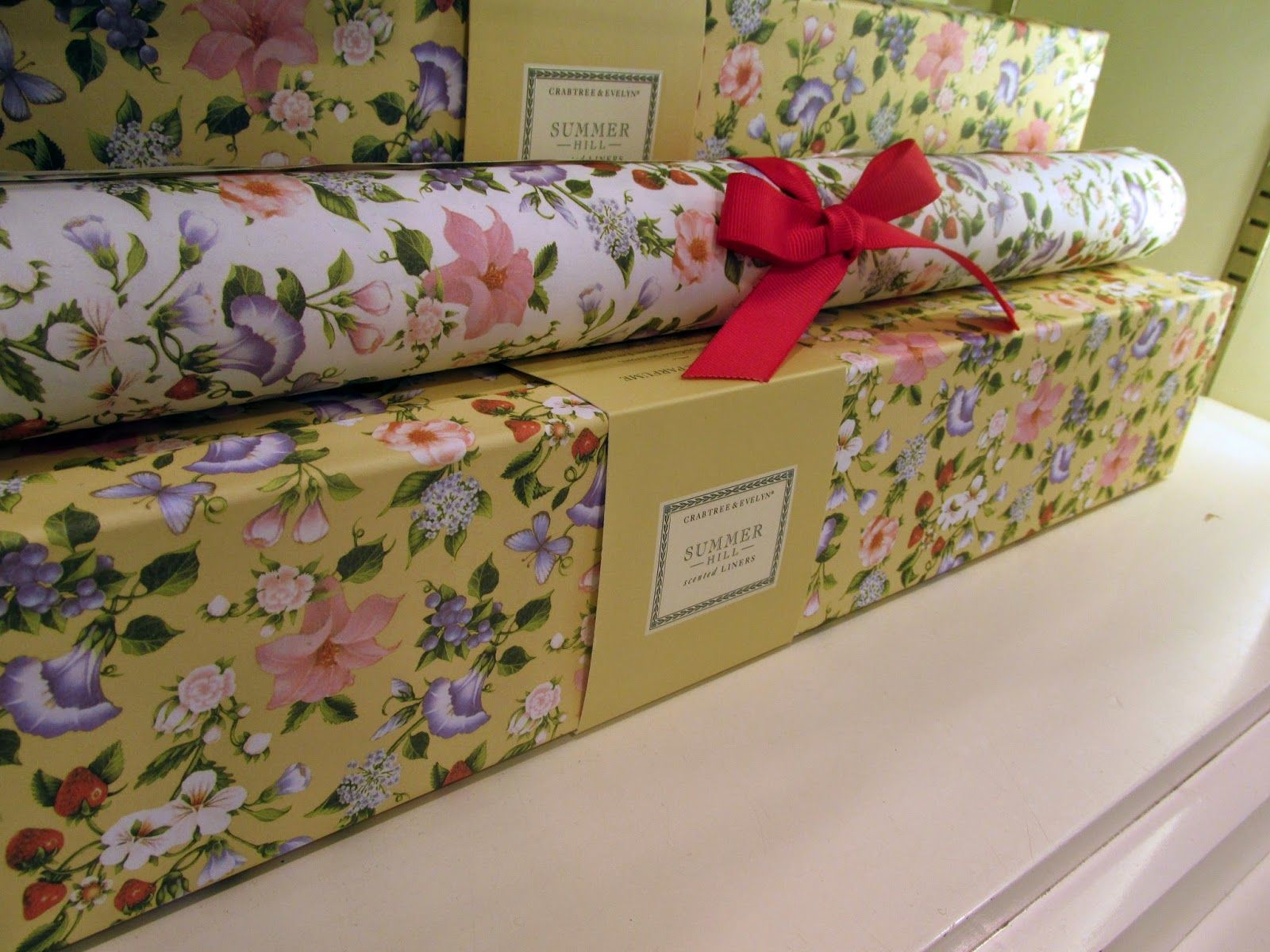 Crabtree And Evelyn Summer Hill Scented Drawer Liners Scented