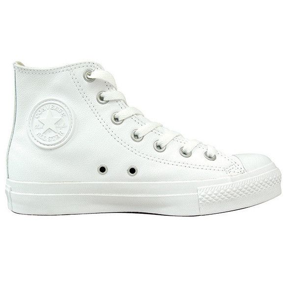 Converse's Hi All Star White Leather Sneakers