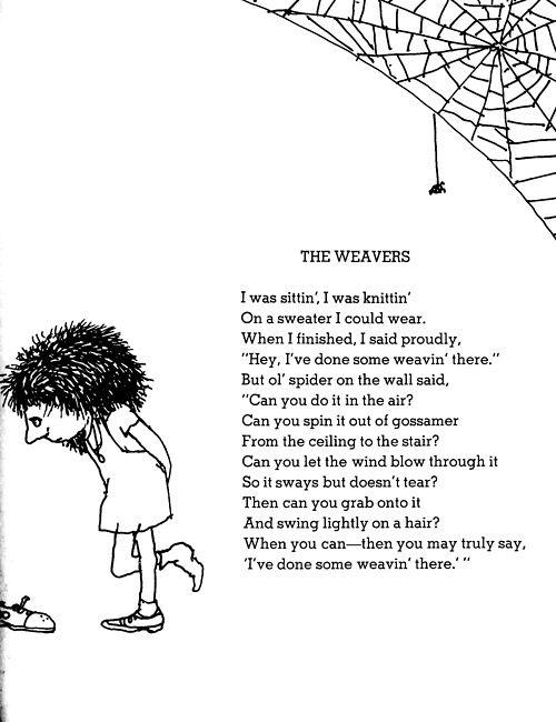 Shel Silverstein - The Weavers | shel silverstein poems ...