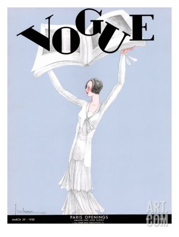 Vogue Cover - March 1930 Regular Giclee Print by Georges Lepape at Art.com