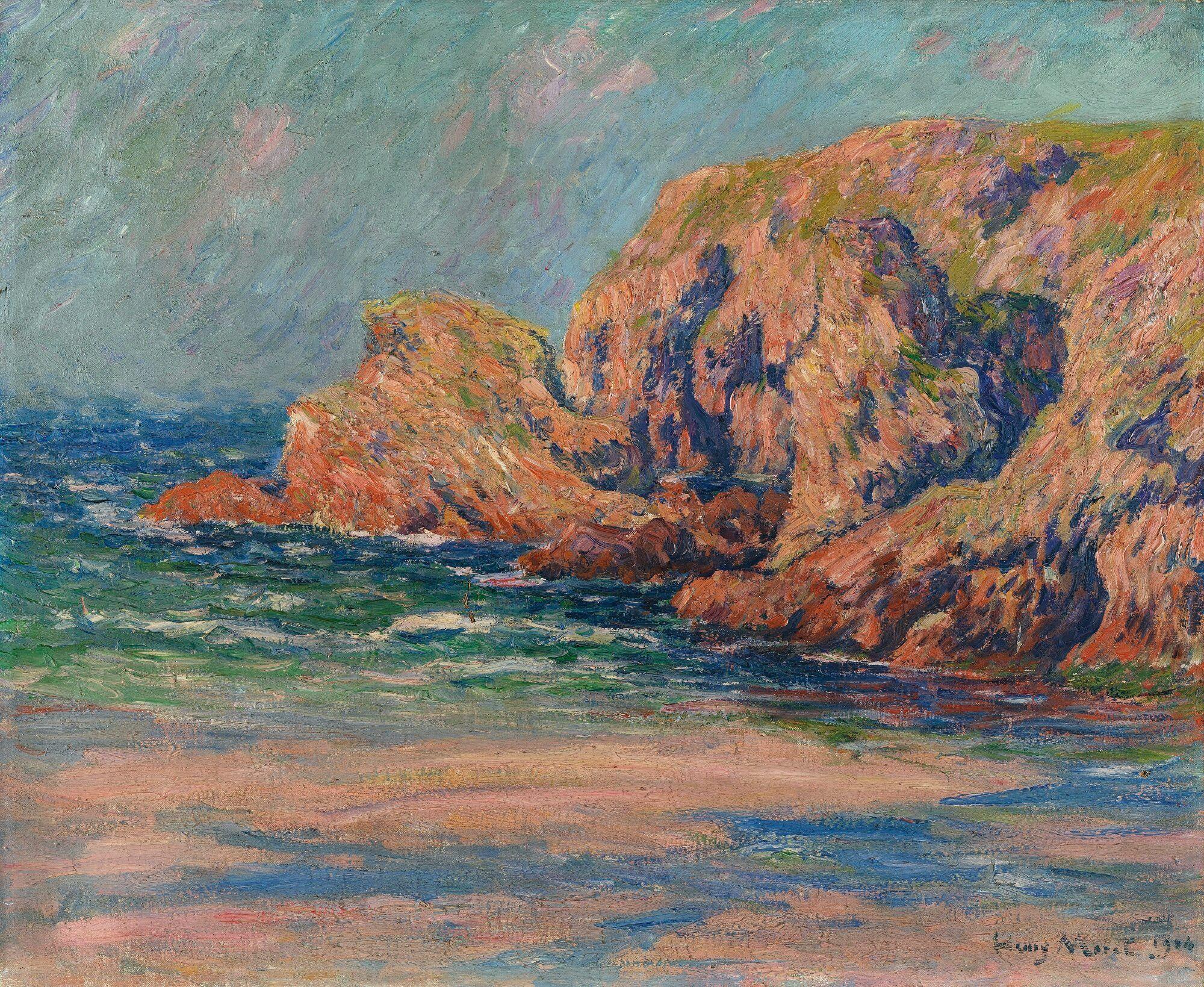Henry Moret ROCHERS À BELLE-ÎLE, ROCHERS LE PONT DONNANT   Belle ile en  mer, Art, Rochers