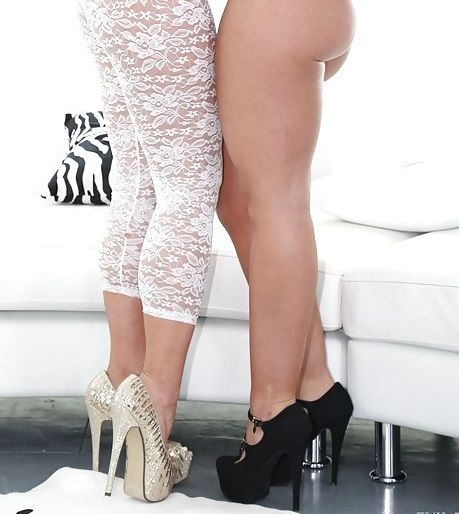 Kelsi Monroe and Savannah Fox nice shoes
