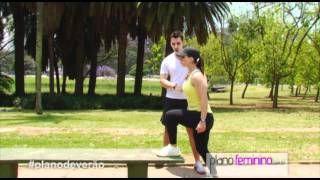 Plano de verão - Exercício Subida no Step, via YouTube.