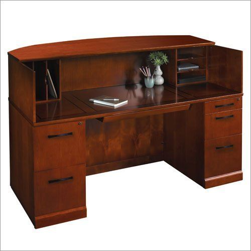American Freight Furniture Application: Mayline Sorrento Collection, Modern Veneer Reception Desk