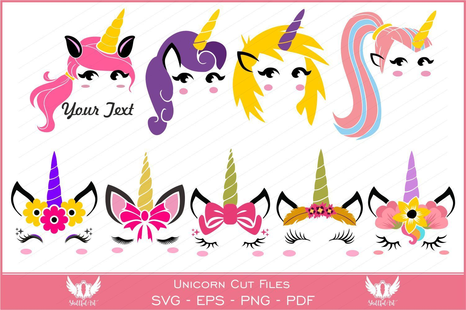 Unicorn (Graphic) by Skillfulart · Creative Fabrica #programingsoftware Can be used with the Silhouette cutting machines, Cricut, or other program/software that accept these files. You will receive the... #programingsoftware