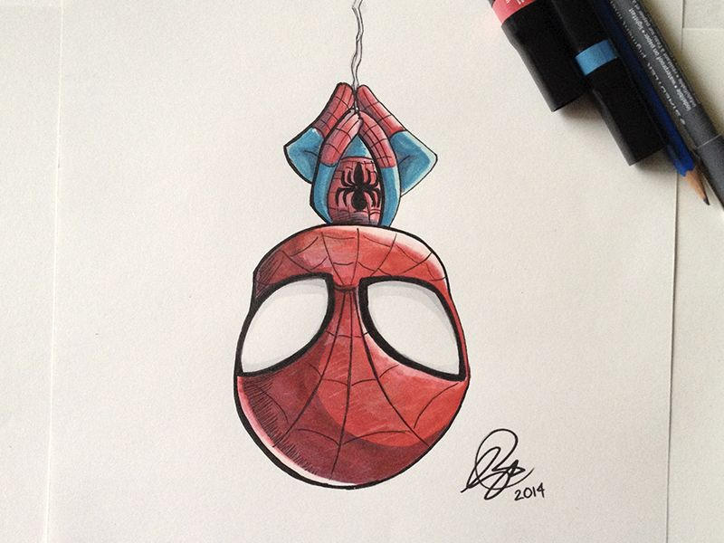 Chibi SpiderMan Marker #spider-man
