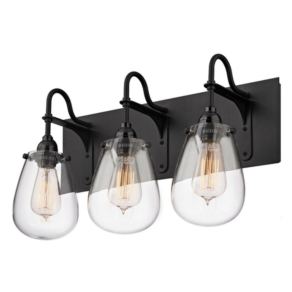 Black Bathroom Light: Industrial Bathroom Light Black Chelsea By Sonneman