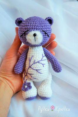 Ami Domi Land Stricken Amigurumi Schlafendes Baby Bären Mona