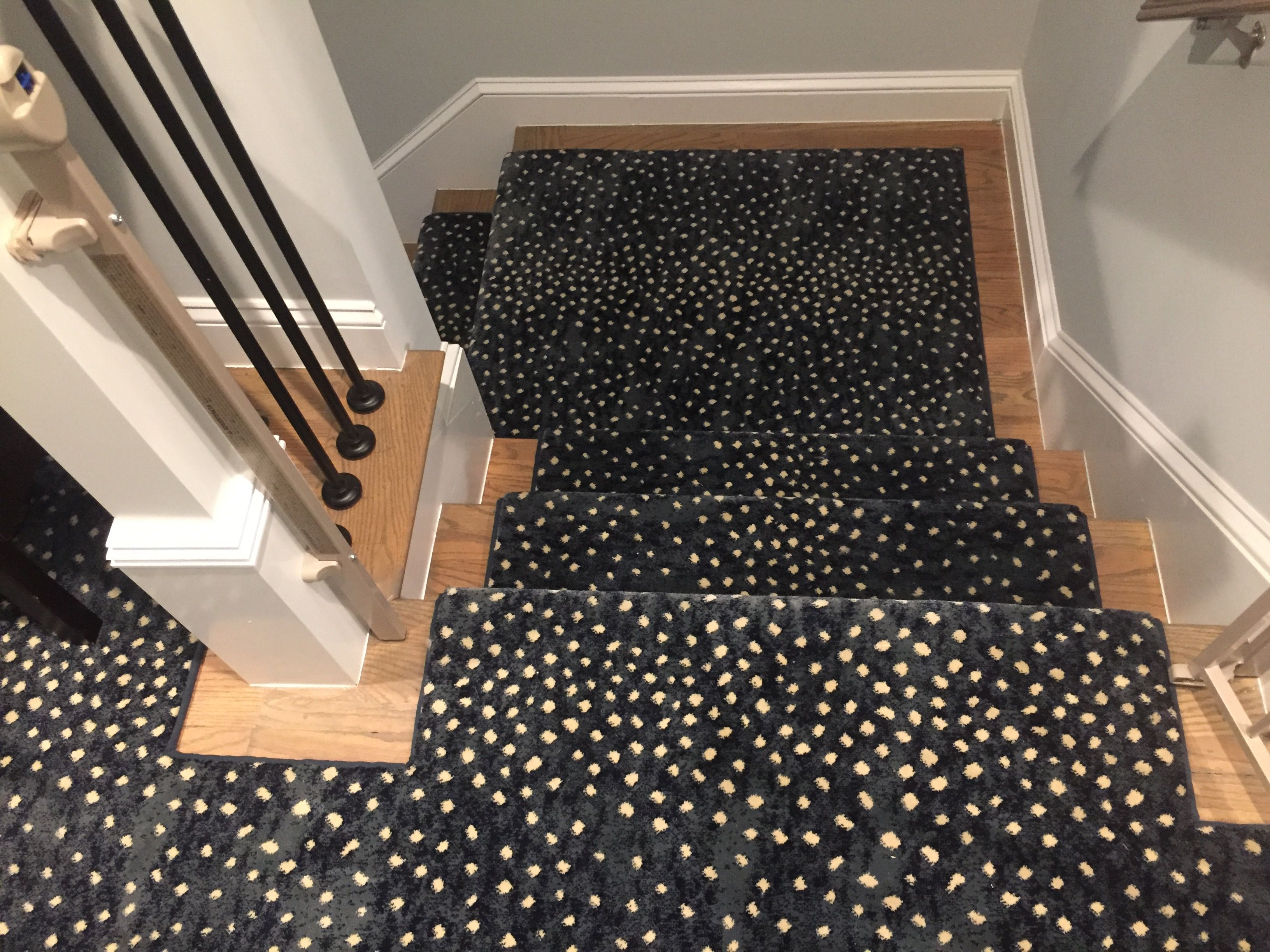 Mill Prestige Style Derning Color Blue Stair Runner Carpet Animal Print Stair Runner Stair Runner