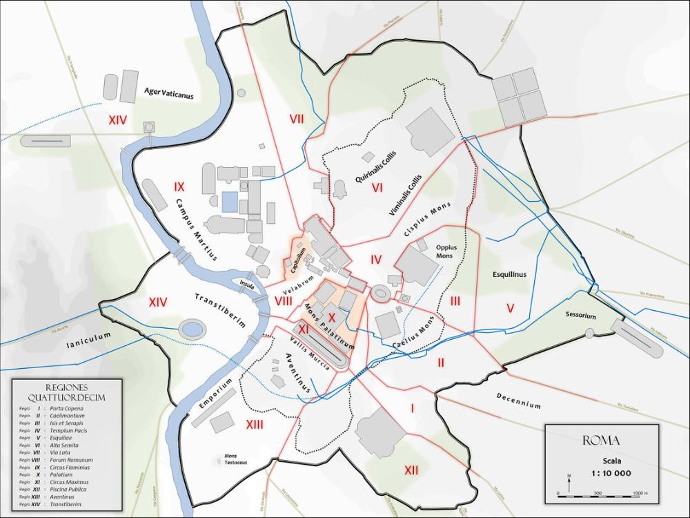 Cartina Michelin Roma.Mappa E Cartina Di Roma Antica Con I Monumenti Della Citta Roma Antica Roma Monumenti