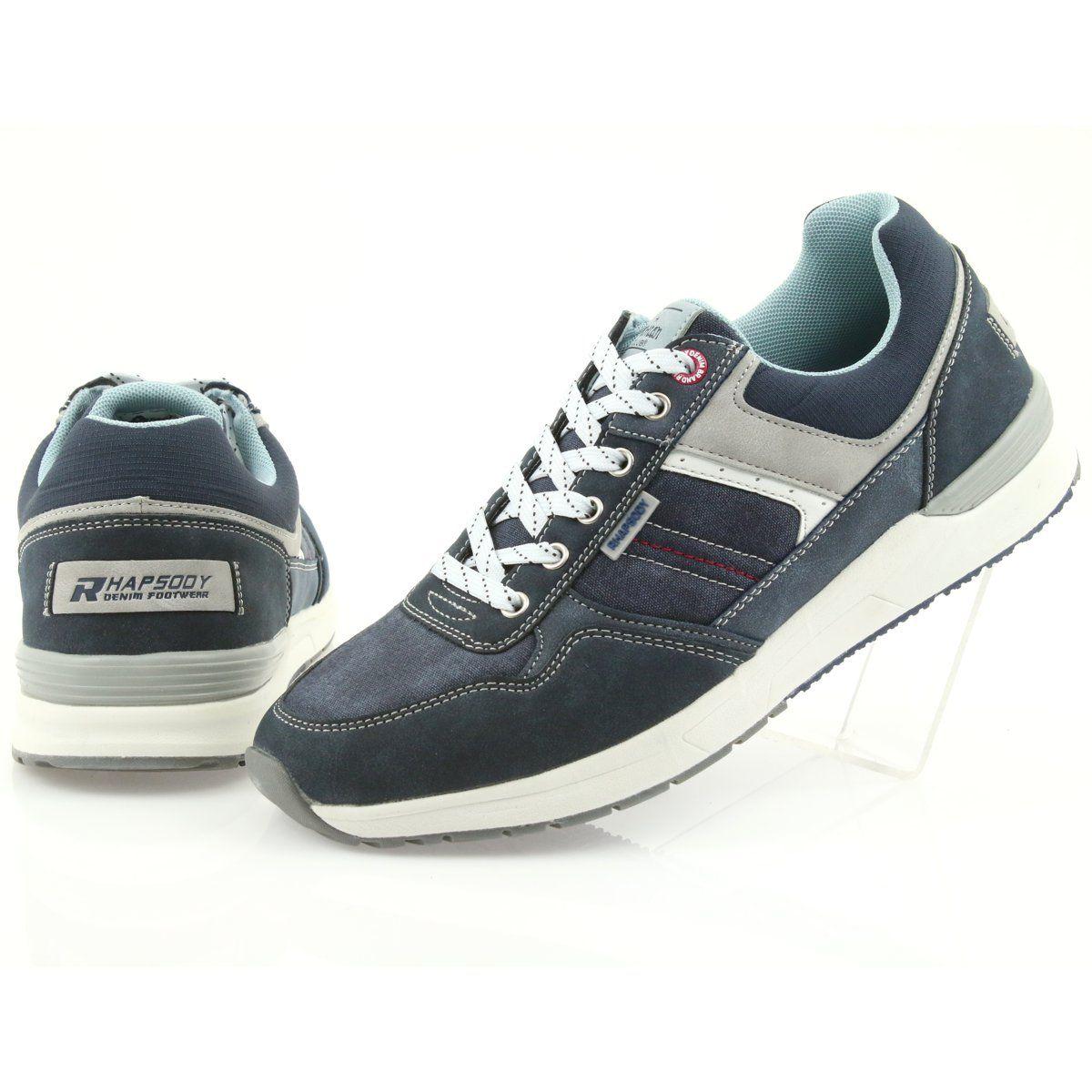 American Club Adi Sportowe Buty Meskie Jeansowe American Rh17 Szare Granatowe Sport Shoes Men Shoes Mens Sport Shoes