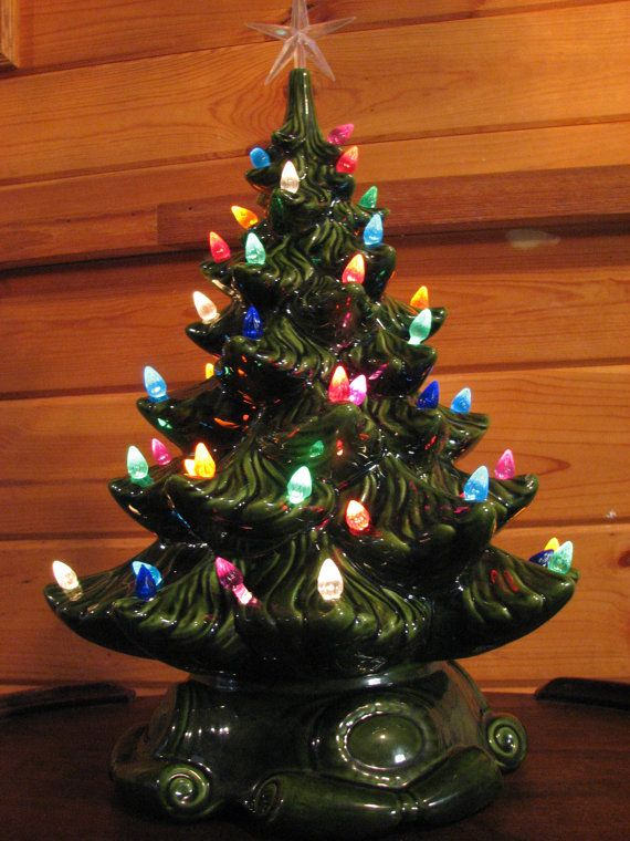 Vintage Atlantic Mold Ceramic Christmas Tree by RedsRustyRelics, $95.00 - Vintage Atlantic Mold Ceramic Christmas Tree By RedsRustyRelics