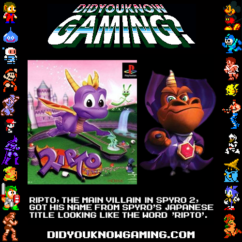 Spyros Japanese name is Ripto? | Did You Know Gaming