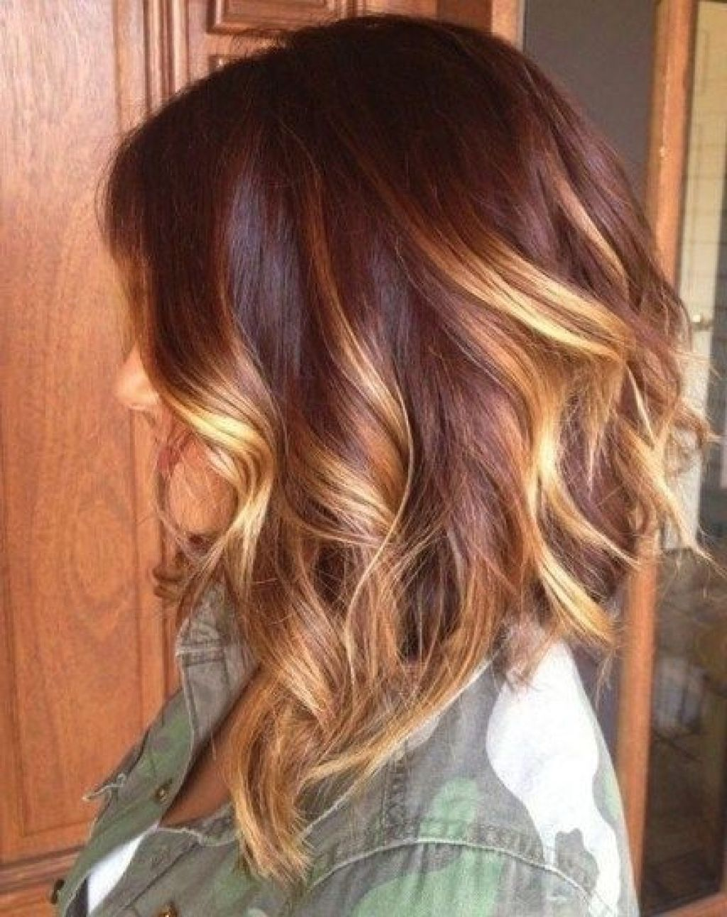 Ombre Hair Color On Medium Length Hair Hairstyle Haircut Ideas