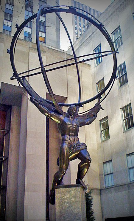 Fig. 14. Atlas Statue, Rockefeller Center, New York City (Tripp March)