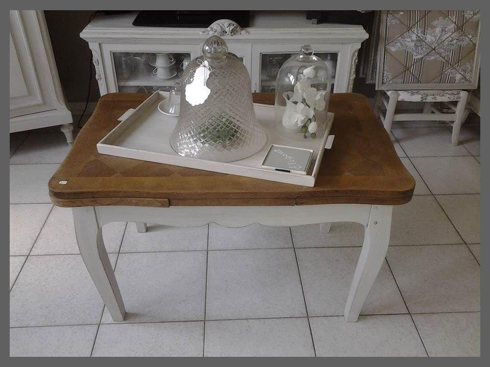 table basse avec rallonges atelierdes4saisons patin e gris perle plateau ch ne dans esprit. Black Bedroom Furniture Sets. Home Design Ideas