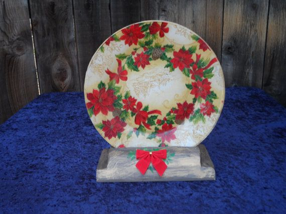 decorative christmas plate by cre8ingharmony on etsy 1200