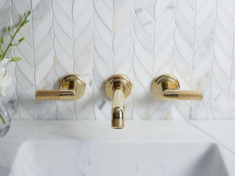 Pinna Paletta By Laura Kirar Wall Mount Sink Faucet P24910 Ulb Faucets Kallista Wall Mount Faucet Bathroom Wall Faucet Wall Mounted Sink