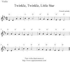 Twinkle Twinkle Little Star Violin Notes Google Search With