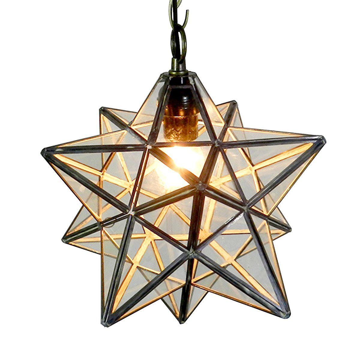 Homestia Rural Pentagram Stereo Star Drop Pendant Light Crystal Transparent Glass Ceiling Lamp Amazon Co Uk Lighting Star Lights On Ceiling Ceiling Lights Ceiling Lamp