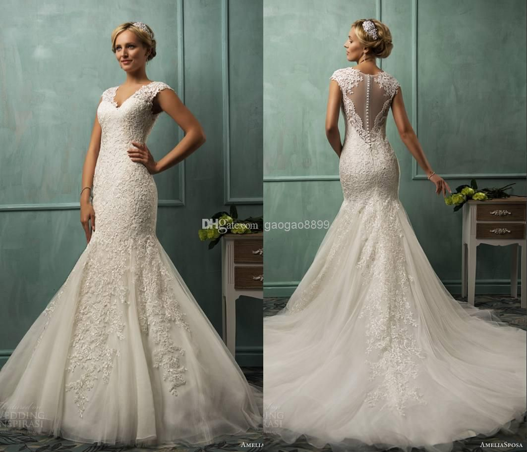 Fit and flare wedding dress vs mermaid pictures