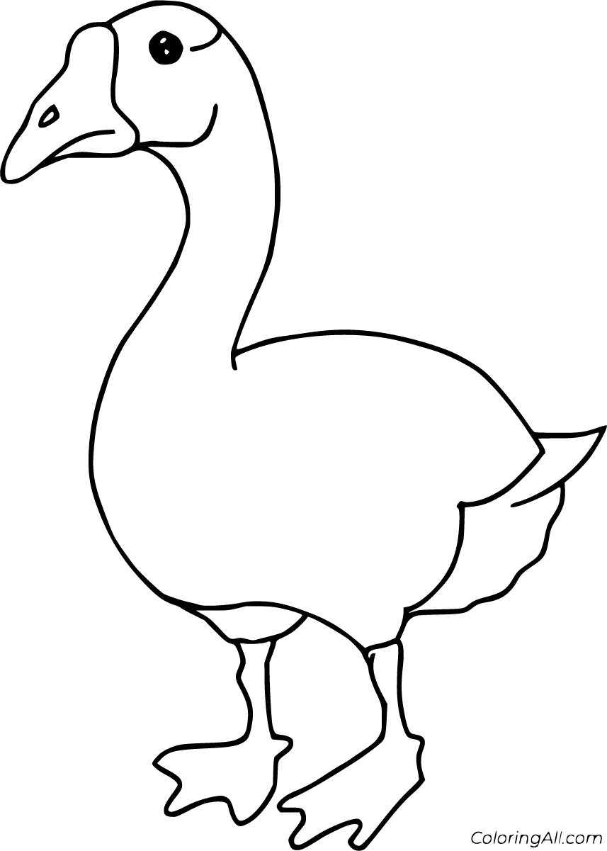 28 Free Printable Goose Coloring Pages In Vector Format Easy To Print From Any Device And Automatically Coloring Pages Bird Coloring Pages Free Coloring Pages