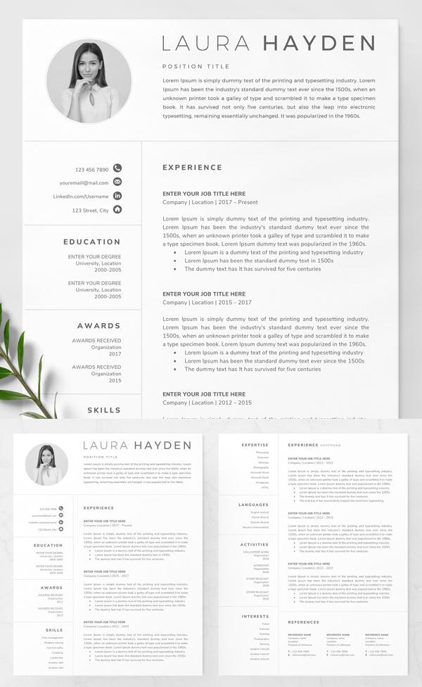 Elegant Resume Template / CV in 2020 Resume template