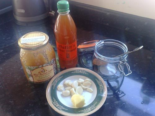 Garlic, Honey and Apple Cider Vinegar: Excellent Home Remedy -- I used to drink this regularly and just recently made a batch to start again.