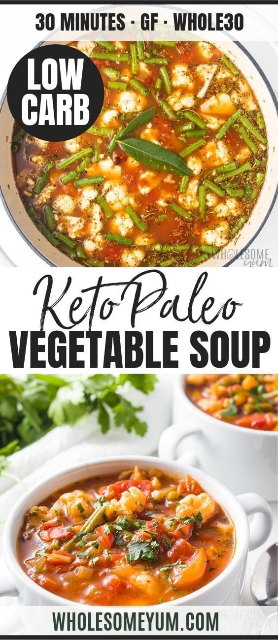 The Best Keto Low Carb Vegetable Soup Recipe | Wholesome Yum -
