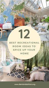 Photo of 12+ Beste Ideen für Freizeiträume, um Ihr Zuhause aufzupeppen, #pimp Up #Best #Leisure …,  …