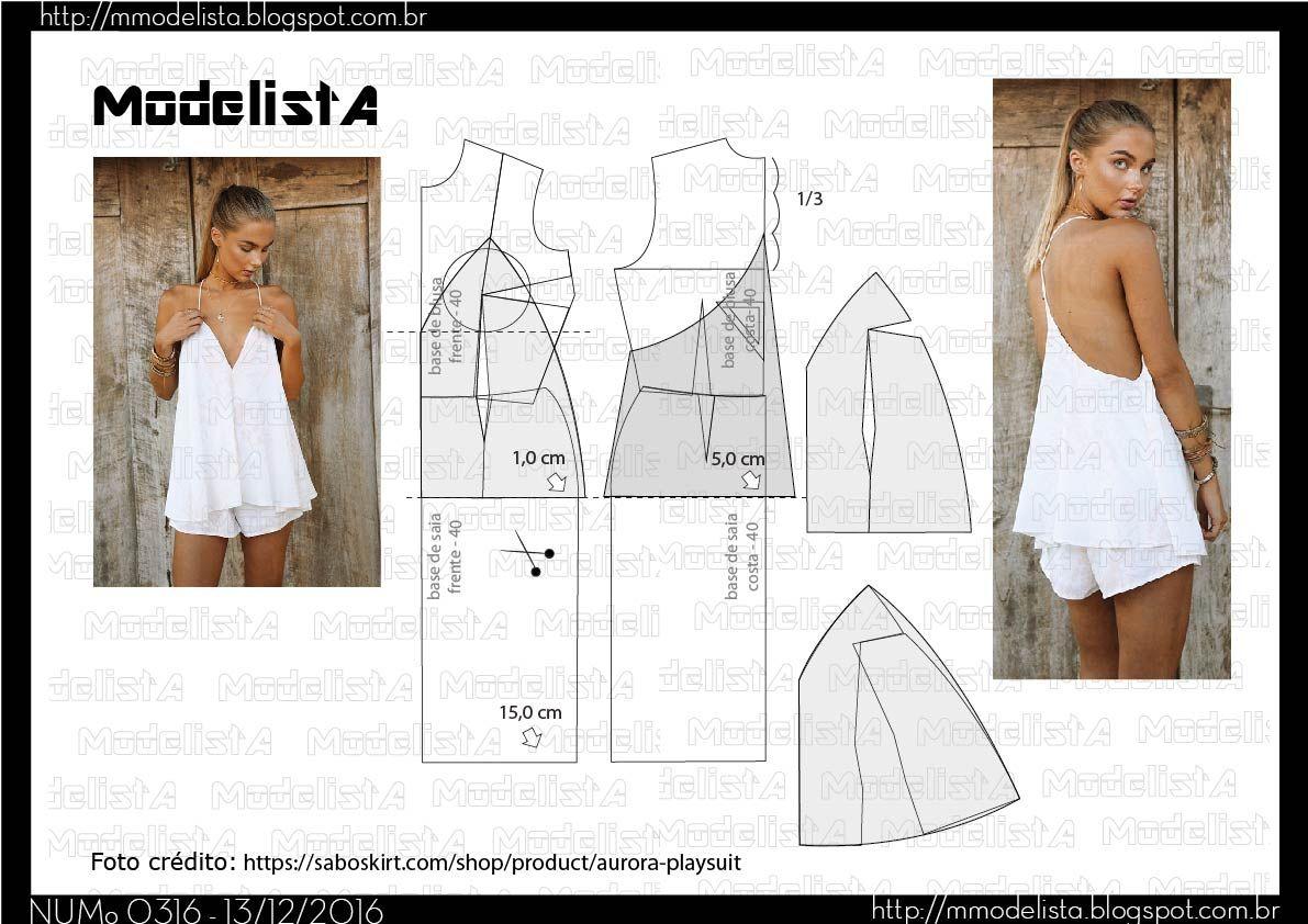 A3 NUM 0316 TOP | COSTURA | Costura, Moldes y Patrones