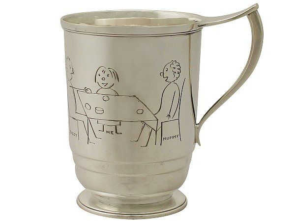 'Sterling Silver Christening Mug - Vintage Elizabeth II' http://www.acsilver.co.uk/shop/pc/Sterling-Silver-Christening-Mug-Art-Deco-Style-Vintage-Elizabeth-II-45p9515.htm