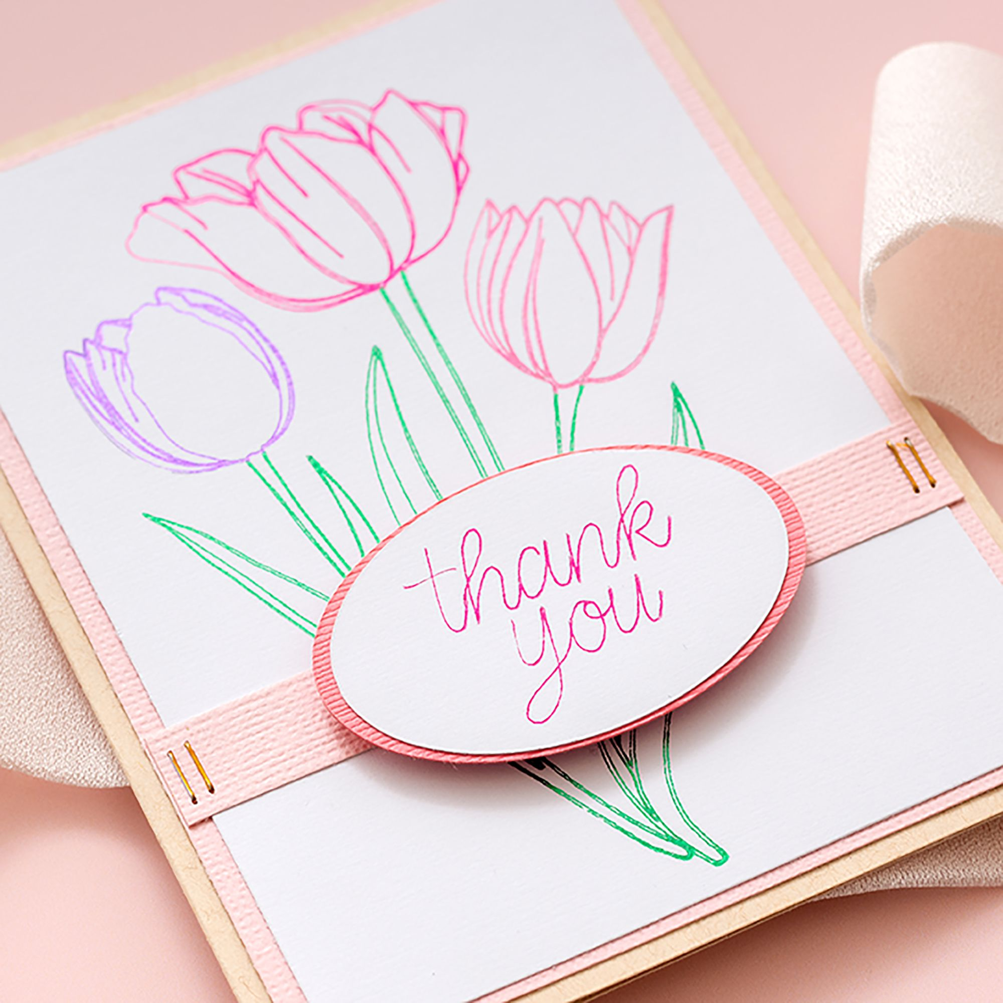 We R Memory Keepers Foil Quill Handmade Card Click For Video