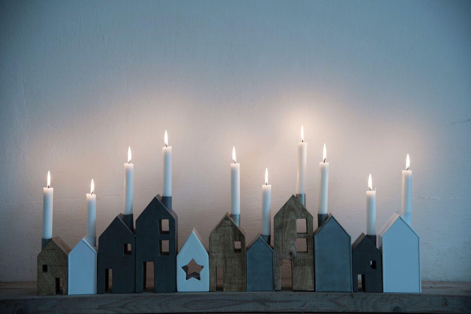 madam stoltz kerzenhalter leuchter metall haus kerzenhaus. Black Bedroom Furniture Sets. Home Design Ideas